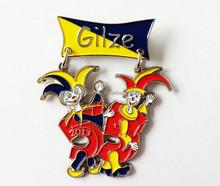 two piece hanging metal badge/ dangler badge/enamel badge