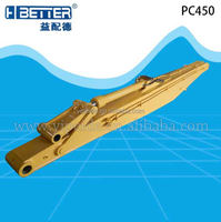 Excavator long reach boom and arm for PC400 PC450