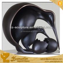 cast bronze abstract bird sculptures for art collection