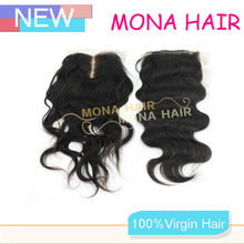 NEW ARRIVAL top quality virgin mongolian body wave lace closure