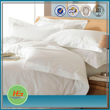 Star Hotel White Cotton Plain Style King Or Queen Duvet Cover