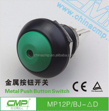 CMP 12mm waterproof wire small switch 6 colors mini led momentary push button
