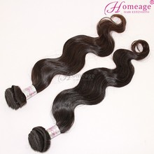 Homeage Real 100% human hair weave extensions African braiding hair hair by bundles