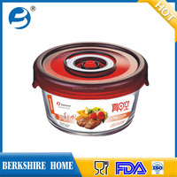 wholesales container kit for food Air tight BPA free glass food crisper with lock lids