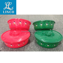 christmas colorful plastic container with lid