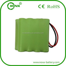 high quality nimh aaa 9.6v 800mah rechargeable battery pack