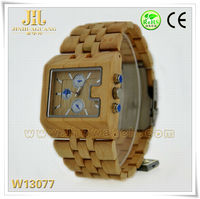 2014 fashionable hot sales Digital wood watch wooden watch stand