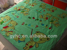 superfine microfiber printed sheets and towels wholesale