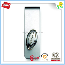 long lasting silver rugby money clip personalized
