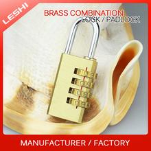 New Design 4 Digits Resettable Combination Brass Travel Lock
