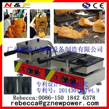 2015 newest Commercial Use Open Mouth Fish Waffle Ice Cream Filling Taiyaki Grill Maker