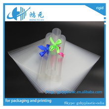 china rigid super clear transparent plastic PET supply for containers