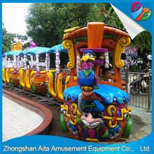 2015 hot-sale kids amusement track train for sale electric train track amusement park game track train