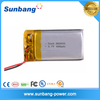 Factory price rechargeable 062035P 3.7v small 400mah lithium battery for gps tracker/GPS,PDA,Bluetooth speaker,MP3,MP4