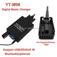 Yatour yt-m06 professional Car audio Phone call hand free kit for citroen c4 car bluetooth kit USB/SD/AUX/Bluetooth MP3 player