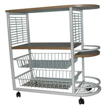 wire mesh with direction wheels restaurant hotel trolley room service cart