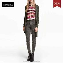 Fine Knitted Kimono Cardigan Longline Design Cardigan Women Wear HSC7716