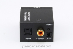 Digital Toslink Coaxial Audio To Analog R/L Audio Converter Decoder with 3.5mm Headphone jack output