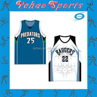 New style design custom basketball jersey with sublimation
