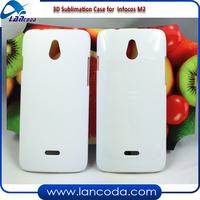 Matte surface 3d Sublimation mobile phone cover for Infocos M2