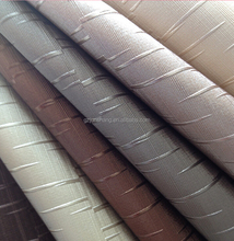 Semi PU leather with metallic color use for upholstery fabric and home decoration material