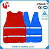 EN20471 high visibility fluorescent blue public safety work vest with reflective strip and velcro closure