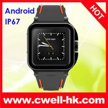 IP67 Waterproof 3G smart watch mobile phone