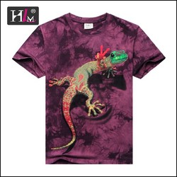 2015 new arrival Wholesale tie dye printing animal 3d t shirt / 3d t-shirt
