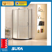 2015 SUYA 0717 factory temper glass square shower rooms with aluminum frame
