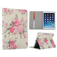 Flower Pattern Flip Stand Leather Case for iPad Mini/iPad Mini 2