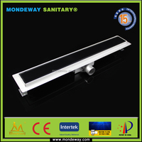 Europe design Customized 316 for 30*7* CM Kitchen Floor Water Drain/floor trap drains water drain grating base channel