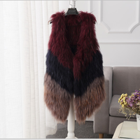 MBA Furs New Product three colors Raccoon Fur vest waistcoats For Women