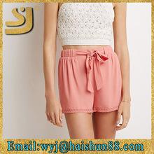 Trendy design sexy women new design ladies fashion bowknot girl shorts