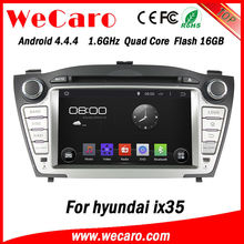 Wecaro Android 4.4.4 Touch Screen multimedia sytem for hyundai ix35 car radio gps 2009 2010 2011 2012