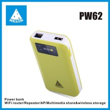 Melon PW62, plug and play travel SOHO wifi router,power bank,Ethernet port RJ45,150Mbps