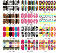 Nail WRAPS Art Sticker Water Transfer False Nails Foil decals Manicure Decor