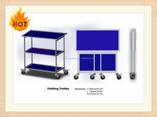 Airline/ Aviation/Aircraft Inflight Foldable Trolley; Folding Cart for Aviation, Airline, Airplane, Aeroplane
