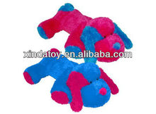 Plush Lying Dog Bright Colors toy