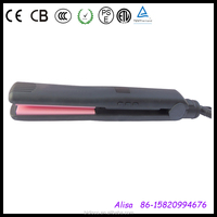 electronical black injection color floating hair straightener flat iron