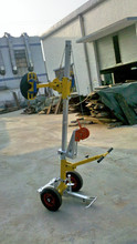 moveable vacuum lifter for glass glazing, materials handling