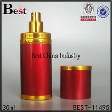 30ml luxury gold brand perfume bottle, perfume refill bottle