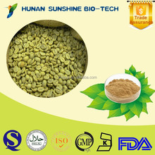 health food Liver protecting Green Coffee Powder Chlorogenic Acid 50%
