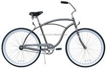 "26"" Male Beach Cruiser XR-B2617 MattGrey Bike beach bicycle beach chopper"