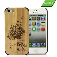 High quality wood cell phone case for apple iphone5s 6 wooden cover shell