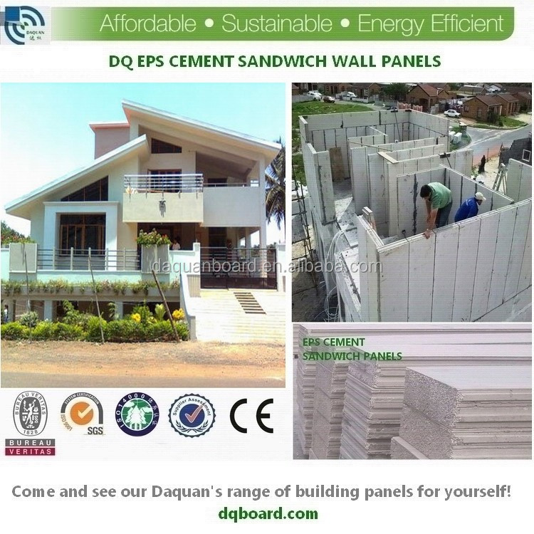 Hot cheap building material eps sandwich panel for prefab for Cheap house materials