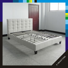 new product queen size home furniture soft fabric bed frame