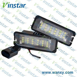 Super brightness Vinstar professional waterproof led number plate light for VW Golf4