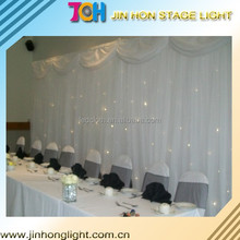 Charming led star cloth curtains for stage backdrops 10X3m RGB Tri color