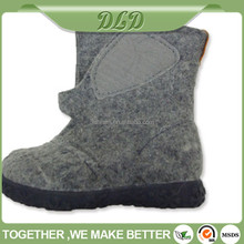 warm wool felt kids shoes,lovely children boots
