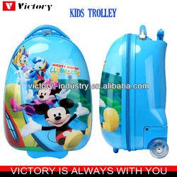 Printed kids luggage,egg shape luggage for kids